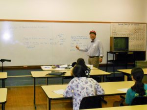 Day 1 - Dr. Wang teaching Calculus, a Gentle Introduction